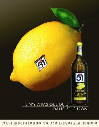 Campagne Pastis 51 Edition Citron 2005