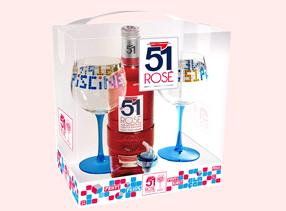 coffret 51 roséavec des verres Tabas