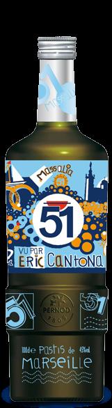 Bouteille Pastis 51 Edition Cantona 2008